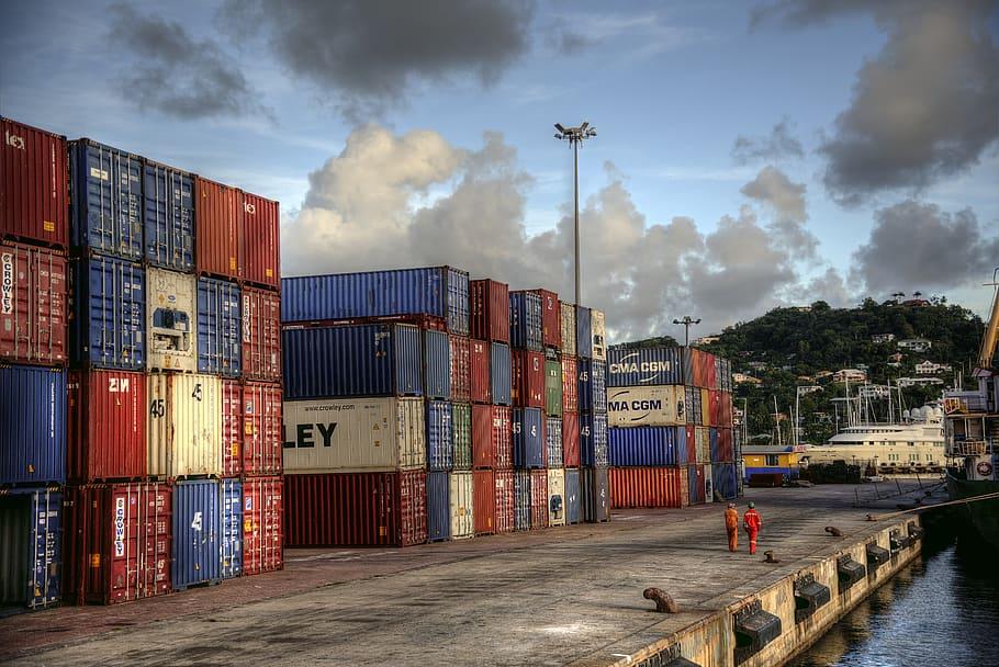 Congestión de cadena de suministros de contenedores